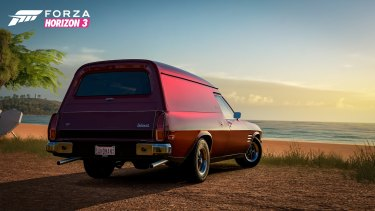 The iconic 1974 HQ 'Sandman' panel van as it will appear in the game.