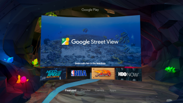 The Google Play store on Daydream.