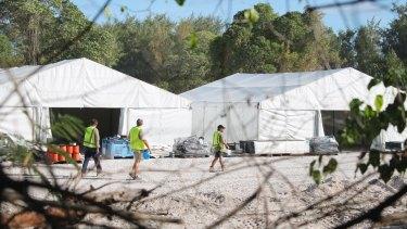 Almost 400 detainees are held on the island of Nauru.