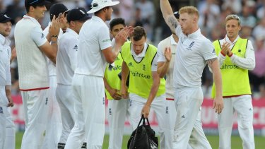 England's fourth seamer Ben Stokes picked up five wickets.