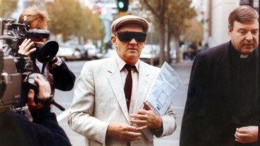 Gerald Ridsdale, one of Australia's worst sex offenders, was supported during a court appearance in 1993 by Catholic Church leader George Pell.