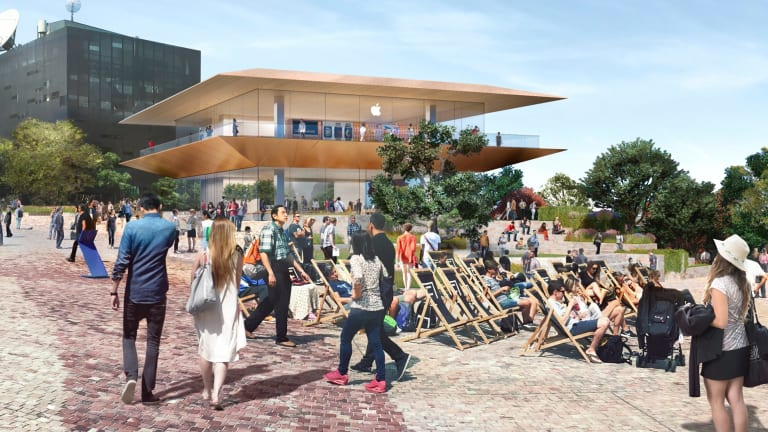 How the Fed Square Apple store will look.