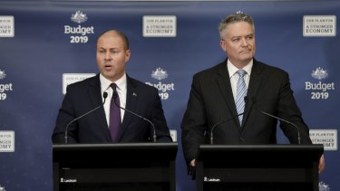 Treasurer Josh Frydenberg and Minister for Finance and the Public Service Mathias Cormann.