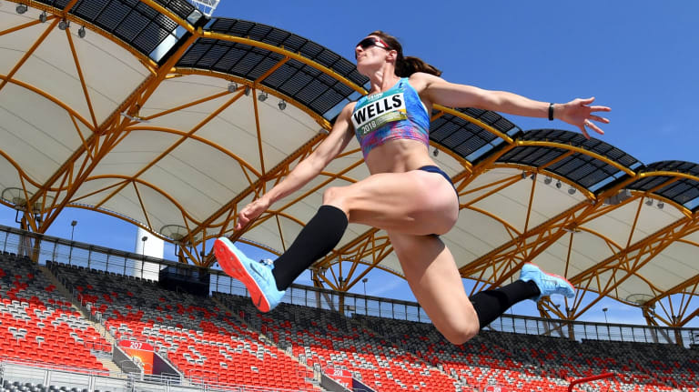 Lauren Wells will attempt to compete in the 400 metres hurdles and long jump at the Commonwealth Games.