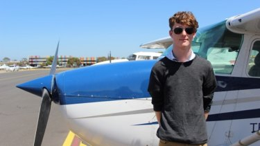 Up, up and away: Oscar Carveth is gaining his pilot's licence through a VET subject and he finds the practical course helps make sense of his VCE physics.