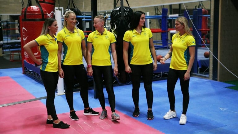 The Australian Commonwealth Games boxing team.