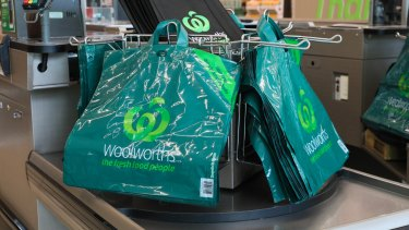 ec811d0739 Woolworths' new thicker reusable plastic bags that are to replace  single-use plastic bags
