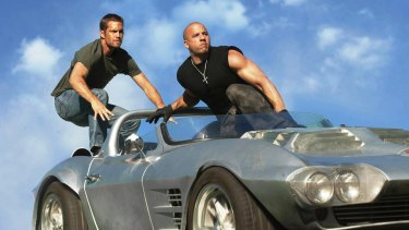 Paul Walker and Vin Diesel in the big-budget <i>Fast and Furious 7</i>.