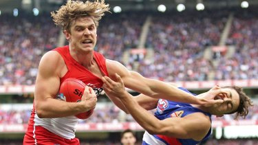 Last year's grand final is one of the few matches the Swans have lost with Rampe.