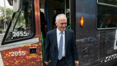 Prime Minister Malcolm Turnbull is an enthusiast for public transport.