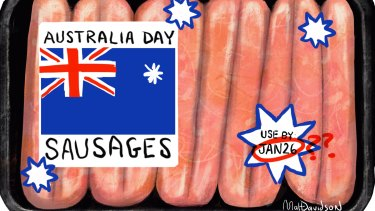 The only cows associated with January 26 are the ones in sausage form. Illustration: Matt Davidson