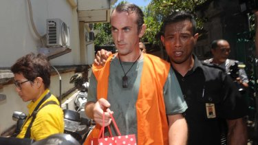 David Taylor arriving at Denpasar District Court last week.