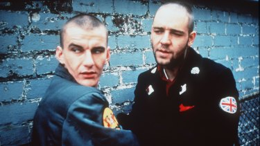 Daniel Pollock and Russell Crowe in the 1992 film Romper Stomper.