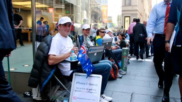 Sydney: A queue for the iPhone 5 in 2012.