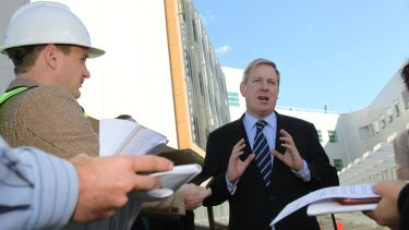 Opposition transport spokesman  David Davis said an elevated rail line would create a 'visual eyesore'.