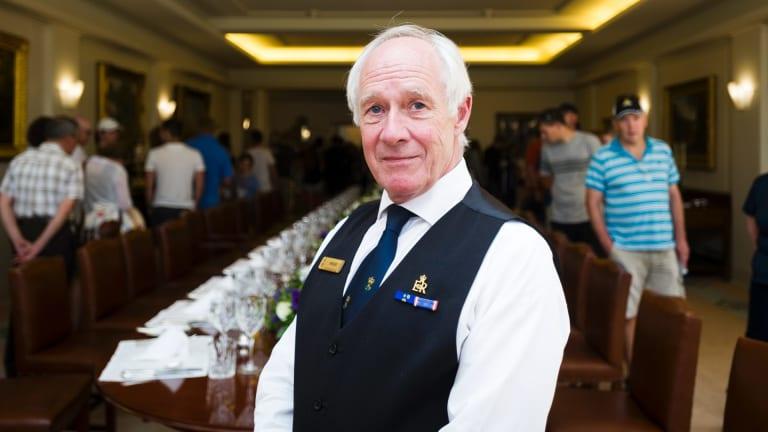 Government House household attendant Roger King.