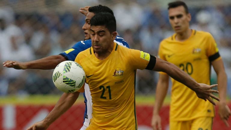 Australia's Massimo Luongo at the front.