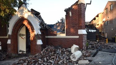The Macedonian Orthodox Church of the Resurrection in Frederick Street, Rockdale, has been completely destroyed by fire.