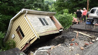 Residents were devastated to find their houses were washed away in floods.