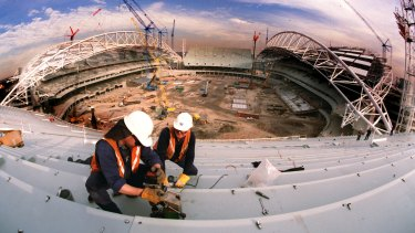 Here we go again: ANZ Stadium in Homebush while still being built for the 2000 Games.