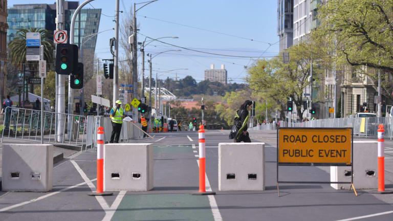 The emergency warning loudspeakers are part of a suite of security measures adopted in the CBD including bollards.