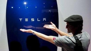 Plug in: The new Tesla Energy Powerwall Home Battery.