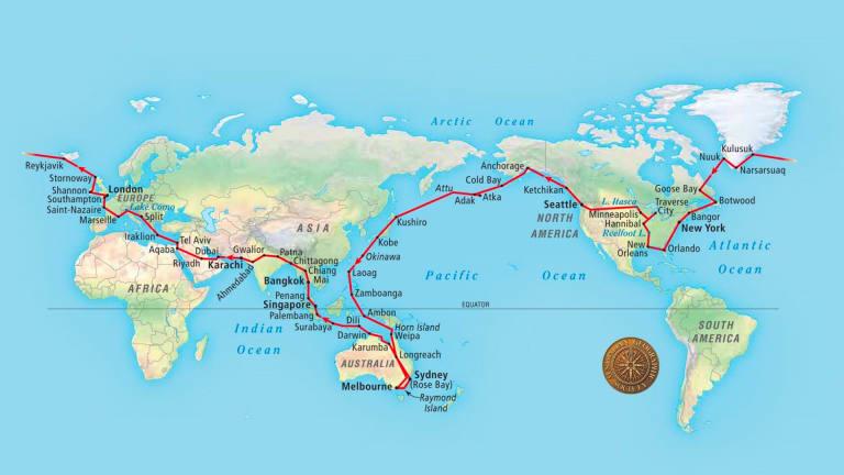 Smith's around-the-world route.