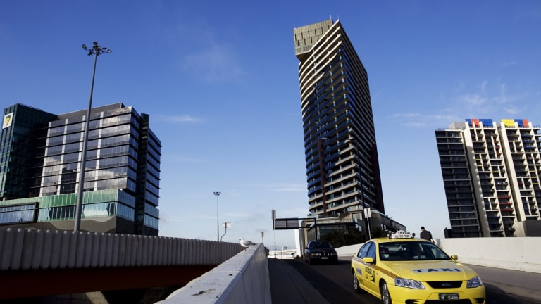 Left empty:  Docklands had the highest number of speculative vacancies of apartments, with 17 per cent consuming no water in 2013. Others used less than 50 litres of water on average each day, leading to assumptions that they were empty or rarely used.