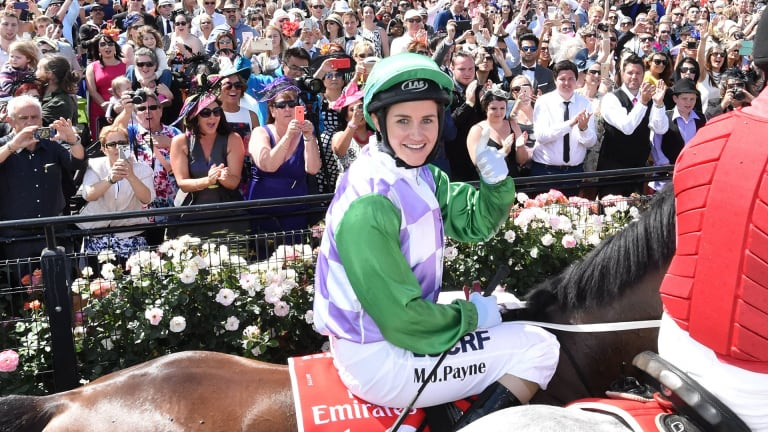 """Michelle Payne described horse racing as a """"chauvinistic"""" sport."""