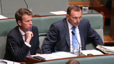 Tony Abbott during question time on Thursday.