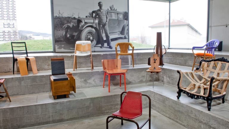 "Martino Gamper describes his 100 chairs as ""very human""."
