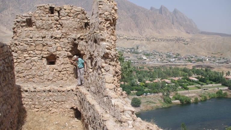 Tobin Hartnell explores the ruins of an Ottoman-era barracks, near Dukan in Iraqi Kurdistan.