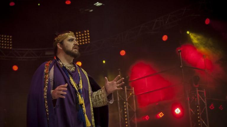 Max Gambale plays Pontius Pilate in Jesus Christ Superstar.