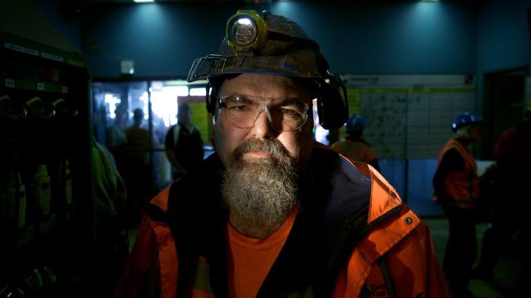 Springvale mine worker John Tilley faced an uncertain future.