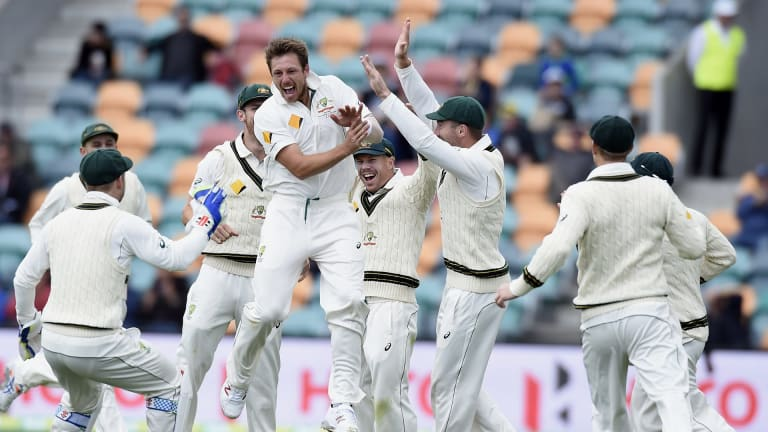 Happier days: Greg Dyer fears for the future of Test cricket.