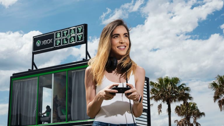 Jessie James at XBox Stay and Play site in Pyrmont