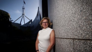 Australian of the Year Rosie Batty at Parliament House on Monday.