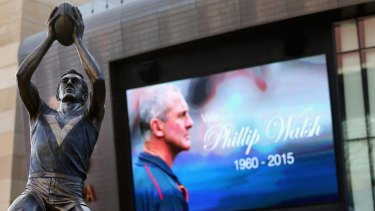 A memorial service was held at the Adelaide Oval.