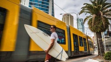 Five million light rail commuter since July 2014 on the Gold Coast.