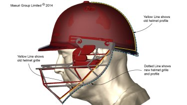 This computer-generated image provided by Masuri Group shows a cricket helmet with old and new profiles. In light of the death of Australian batsman Phillip Hughes, are cricket helmets affording the right level of protection to batsmen receiving deliveries of up to 90 miles per hour from the world's quickest bowlers? And will helmets ever guarantee the safety of a batsman?