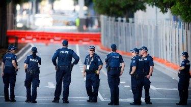 Queensland Police during the G20 Summit in Brisbane.