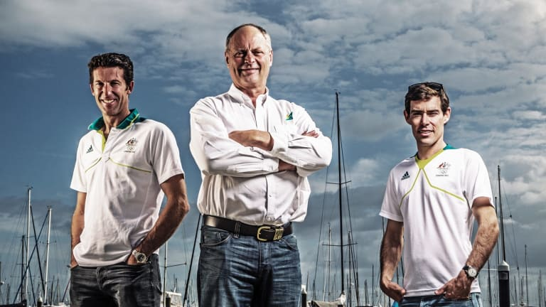 Peter Conde, centre, has been appointed as the new AIS boss.