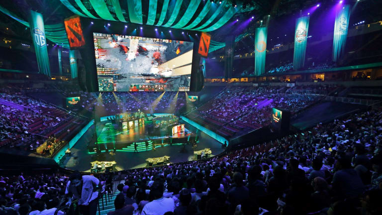 Strong competition: Five-person eSport teams faced off for a share of $24 million of prizemoney at the International Dota 2 Championships in August.