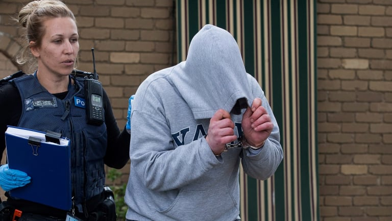 A property in Jacksons Road in Noble Park has been raided and arrests were made.
