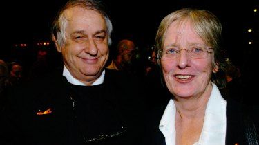 Bob Ellis and Anne Brooksbank in 2005.