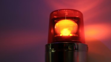 A worker has severe stomach and chest injuries after an accident involving a pallet stacker.