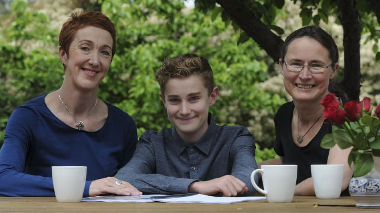 Class act: Co-founder of Missing School Inc, Megan Gilmour, left, and her son Darcy, who missed 18 months of school due to various illnesses and their treatment.