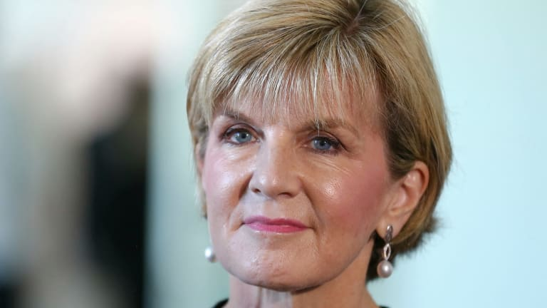 "Foreign Minister Julie Bishop: ""As long as nuclear weapons exist, many countries, including Australia, will continue to rely on nuclear deterrence to help prevent nuclear attack or coercion."""