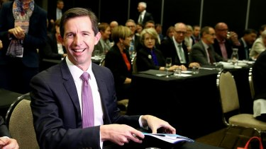 """Education Minister Simon Birmingham says universities have been receiving """"rivers of gold"""" from the taxpayer over recent years"""