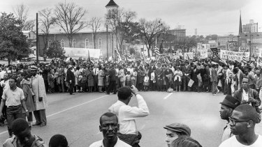 A painful history: John Lewis participated in the Selma March in 1965.